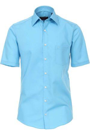 Casa Moda Heren Korte mouwen - Modern Fit Overhemd Korte mouw sky, Effen