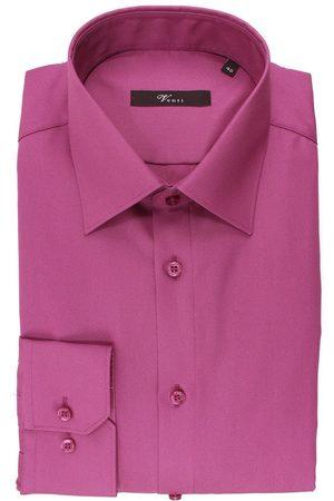 Venti Modern Fit Overhemd magenta, Effen