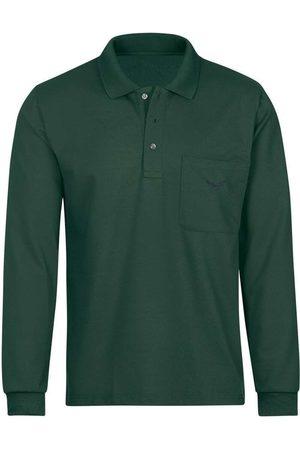 Trigema Heren Lange mouw - Comfort Fit Poloshirt lange mouw donkergroen, Effen
