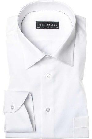 john miller Heren Lange mouwen - Modern Fit Overhemd , Effen