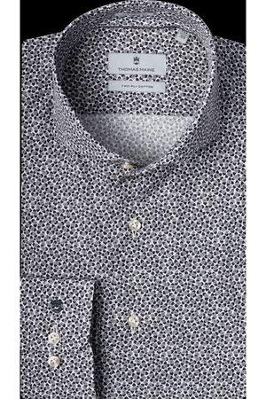 Thomas Maine Heren Lange mouwen - Bari Tailored Fit Overhemd , Motief