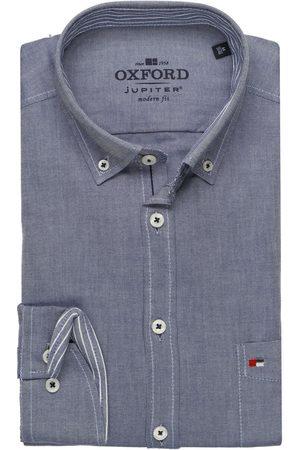 Jupiter Heren Casual - Casual Modern Fit Overhemd marine, Effen