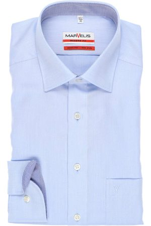 Marvelis Heren Lange mouwen - Modern Fit Overhemd , Gestructureerd
