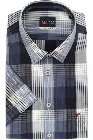 Jupiter Casual Short Style Overhemd Korte mouw marine, Ruit