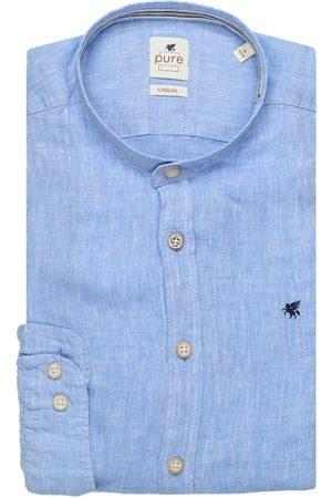 Pure Heren Overhemden - Slim Fit Overhemd lichtblauw, Effen