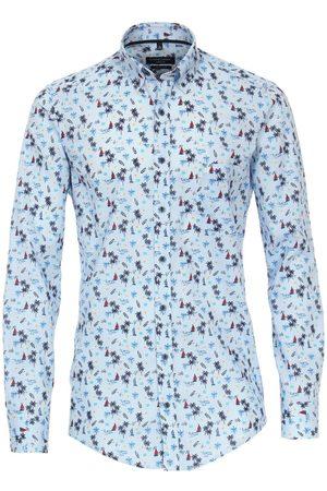 Casa Moda Casual Casual Fit Overhemd lichtblauw, Motief