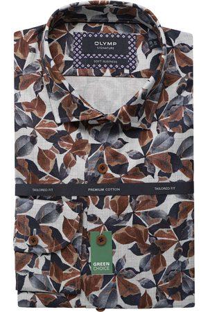 Olymp Heren Zakelijk - Soft Business Tailored Fit Overhemd / , Motief
