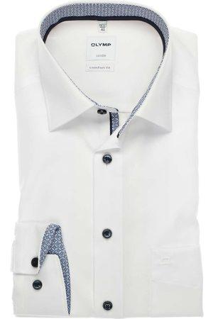 Olymp Heren Lange mouwen - Luxor Comfort Fit Overhemd , Effen