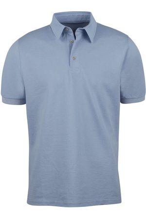 Stenströms Heren Korte mouw - Slimline Polo shirt Korte mouw lichtblauw, Effen