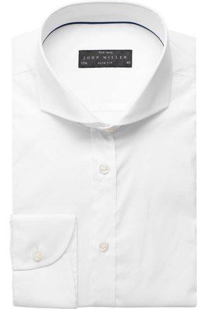 john miller Heren Lange mouwen - Slim Fit Overhemd , Effen