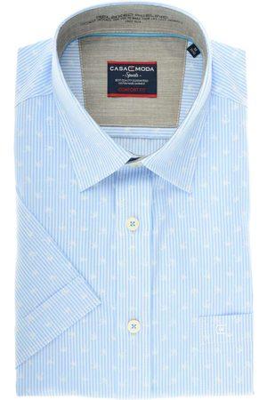 Casa Moda Heren Korte mouwen - Comfort Fit Overhemd Korte mouw lichtblauw/ , Motief