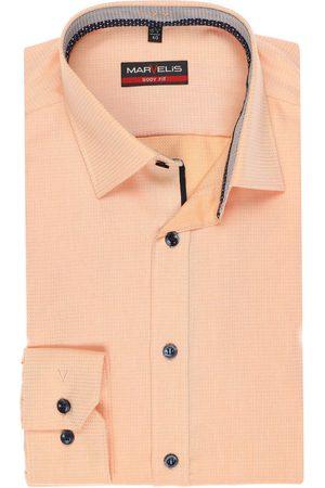 Marvelis Heren Lange mouwen - Body Fit Overhemd , Faux-uni