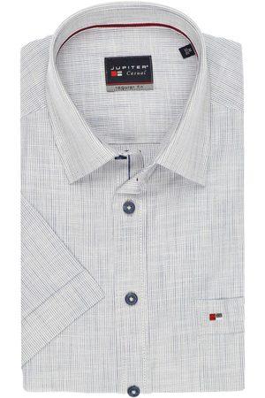 Jupiter Heren Korte mouwen - Casual Regular Fit Overhemd Korte mouw / , Gestreept
