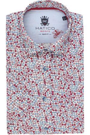 Hatico Heren Korte mouwen - Regular Fit Overhemd Korte mouw , Motief