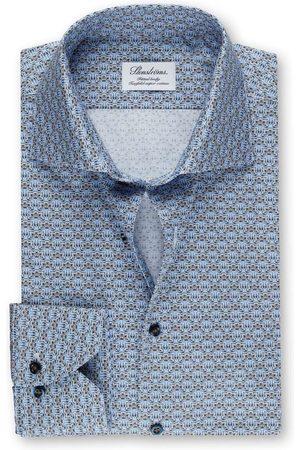 Stenströms Heren Lange mouwen - Fitted Body Overhemd lichtblauw, Motief