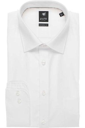 Pure Heren Lange mouwen - Modern Fit Overhemd , Effen