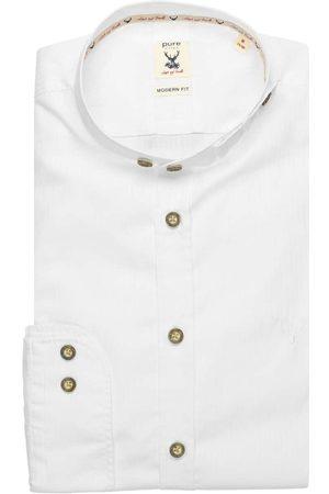 Pure Heren Lange mouwen - Modern Fit Traditioneel overhemd , Effen