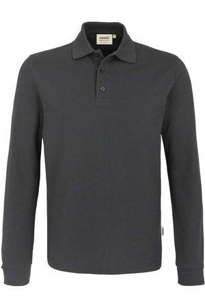 HAKRO 815 Comfort Fit Poloshirt lange mouw antraciet, Effen