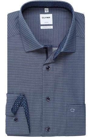 Olymp Luxor Comfort Fit Overhemd donkerblauw, Gestructureerd