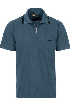 Trigema Business Comfort Fit Polo shirt Korte mouw jeans, Melange