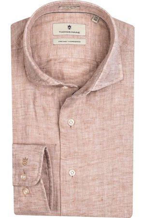 Thomas Maine Heren Lange mouwen - Tailored Fit Overhemd , Effen