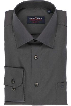 Casa Moda Heren Lange mouwen - Comfort Fit Overhemd antraciet, Effen