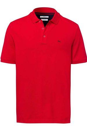 Brax Modern Fit Polo shirt Korte mouw vuurrood, Effen