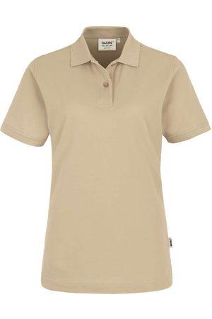 HAKRO 224 Regular Fit Dames Poloshirt zand, Effen