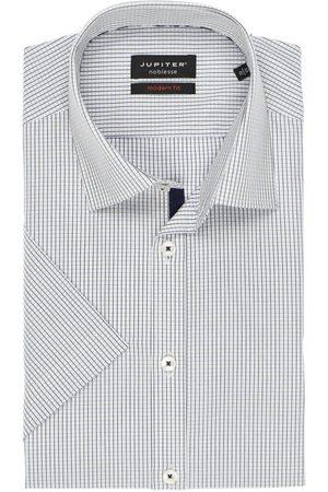 Jupiter Modern Fit Overhemd Korte mouw lichtblauw/ , Ruit