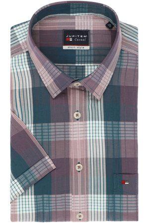Jupiter Heren Korte mouwen - Casual Short Style Overhemd Korte mouw / , Ruit