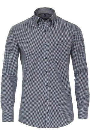 Casa Moda Heren Casual - Casual Comfort Fit Overhemd marine/ , Motief