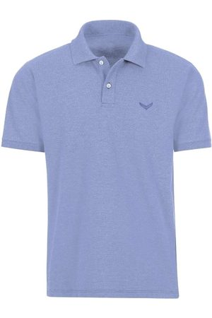 Trigema Comfort Fit Polo shirt Korte mouw lavendel, Melange