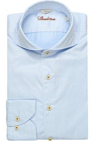 Stenströms Heren Casual - Casual Slimline Overhemd lichtblauw, Effen