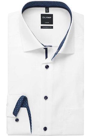 Olymp Heren Lange mouwen - Luxor Modern Fit Overhemd , Gestructureerd