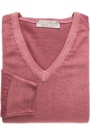 john miller Tailored Fit Sweatshirt V-halsrood, Effen