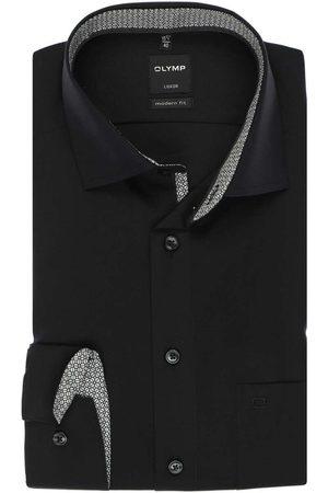 Olymp Heren Lange mouwen - Luxor Modern Fit Overhemd , Effen