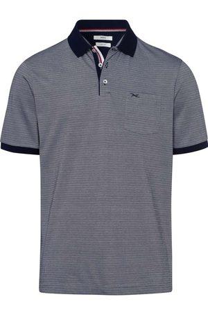 Brax Modern Fit Polo shirt Korte mouw oceaan, Gestreept