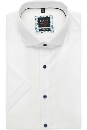Olymp Level Five Body Fit Overhemd Korte mouw , Faux-uni