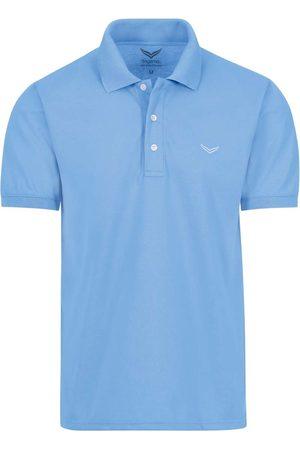 Trigema Heren Korte mouw - Comfort Fit Polo shirt Korte mouw lichtblauw, Effen
