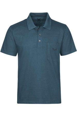 Trigema Heren Korte mouw - Comfort Fit Polo shirt Korte mouw jeans, Melange