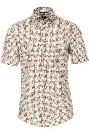 Venti Heren Korte mouwen - Casual Modern Fit Overhemd Korte mouw veelkleurig, Motief