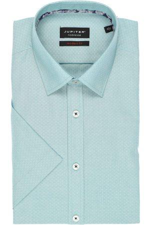 Jupiter Heren Korte mouwen - Modern Fit Overhemd Korte mouw munt, Faux-uni