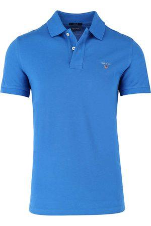 GANT Heren Korte mouw - Regular Fit Polo shirt Korte mouw donkerblauw, Effen