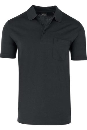 Ragman Heren Korte mouw - Regular Fit Polo shirt Korte mouw antraciet, Effen