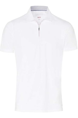 Pure Heren Korte mouw - Slim Fit Polo shirt Korte mouw , Effen