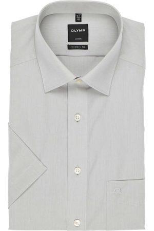 Olymp Heren Korte mouwen - Luxor Modern Fit Overhemd Korte mouw zilvergrijs, Effen