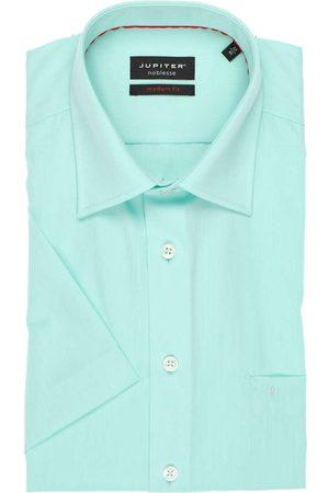 Jupiter Heren Korte mouwen - Modern Fit Overhemd Korte mouw munt, Effen