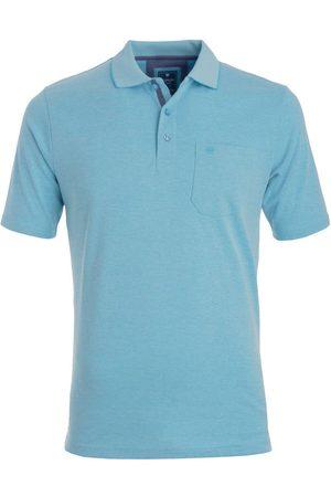 Redmond Heren Korte mouw - Casual Regular Fit Polo shirt Korte mouw turquoise, Effen