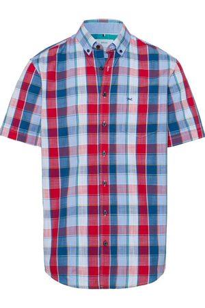 Brax Heren Korte mouwen - Comfort Fit Overhemd Korte mouw , Ruit