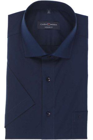 Casa Moda Heren Korte mouwen - Modern Fit Overhemd Korte mouw marine, Effen